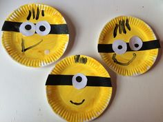 Paper plate minions craft. Simple craft for minions fans. Suitable for toddlers and preschoolers.