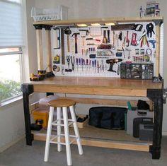 Garage Storage Systems Workbench Shelving Heavy Duty Custom Hopkins Basics Kit #2x4Basics