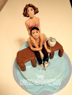 Tatil yapan sevgililer pastası - Vacation and Couple Cake Disney Characters, Fictional Characters, Disney Princess, Fantasy Characters, Disney Princesses, Disney Princes