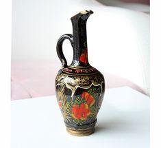 Vintage handpainted ceramic pitcher Glazed by VintageCorner42