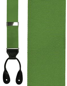 Kelly Green Grosgraine Ribbon Suspenders (Button Ends)