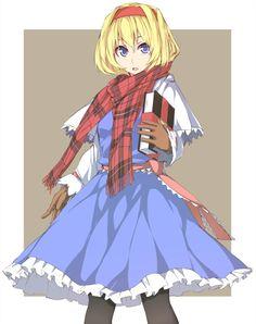 Alice all bundled up.