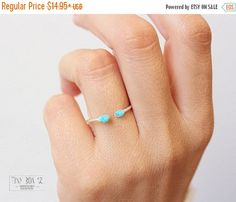 cyber monday etsy Raw TURQUOISE RingTurquoise by TinyBox12 on Etsy