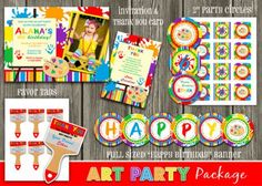 Check out the thank-you from this Art Party - Complete Party Package - DIY