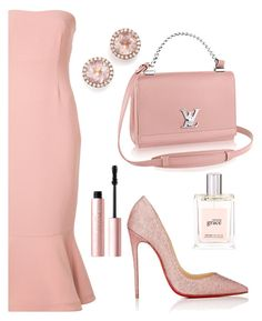 """""""Dinner Party"""" by sunnydays4everkh ❤ liked on Polyvore featuring Cinq à Sept, Too Faced Cosmetics, Christian Louboutin, Dana Rebecca Designs and philosophy"""