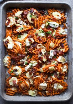 Make Brie and Brown Sugar Bacon Sweet Potato Fries with this easy recipe.