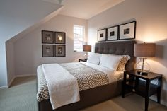 "contemporary bedroom by John Goldsmith Photography - I""m liking the bed frame"