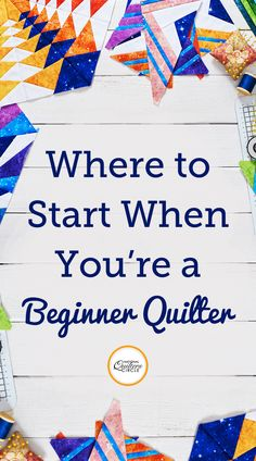 Knowing how to start a quilt, especially when it comes to quilting can be difficult. Get expert tips on how to start quilting your next quilt. Quilting 101, Quilting Templates, Quilting Tutorials, Quilting Projects, Sewing Projects, Patchwork Quilting, Quilting Ideas, Sewing Hacks, Beginner Quilt Patterns