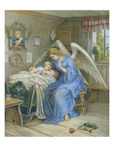 Stock Photo - religion, Christianity, guardian angel protecting child, Germany, circa Additional-Rights-Clearences-NA Gardian Angel, Guardian Angel Pictures, Jesus And Mary Pictures, Angels In Heaven, Victorian Christmas, Figurative Art, Find Art, Framed Artwork, Giclee Print