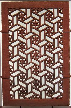 Jali screen, northern India, sandstone, 17th century, San Diego Museum of Art