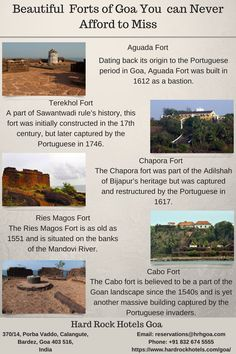 Beautiful Forts of Goa You can Never Afford to Miss. India Trip, Goa India, Beautiful Places To Travel, Cool Places To Visit, Hiking Places, India Travel Guide, India Facts, Rest House, Travel Route