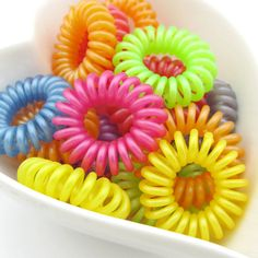 20PCS Cutie Plastic rubber ponytail Holders hair by craftsutopia, $3.50