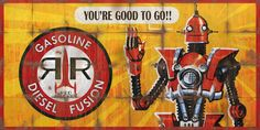 Red Rocket Billboard Advert - Fallout 4 by Fallout 4 Funny, Fallout Props, Fallout Game, Fallout 4 Items, Fallout 4 Mods, Fallout Backgrounds, Fallout Settlement, Fallout Posters, Fallout Cosplay