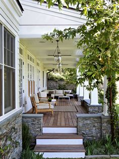 Deck at the front or back of the house. Traditional, cape cod style. Climbing…