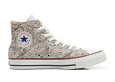 Converse Custom - personalisierte Schuhe (Handwerk Produkt) Damask Paisley size 46 EU - Sneakers für frauen (*Partner-Link)