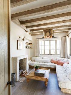 L shaped couch, adn fireplace!! @Alex Jones Topp