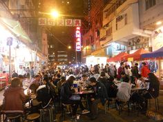 Temple Street and the small streets around it are packed with cheap eateries where you can enjoy a nice, authentic meal, at a really good price...    By orangepulpfilms, via Flickr