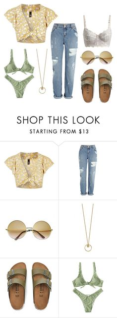Untitled #33 by mimikla on Polyvore featuring Topshop, River Island, Birkenstock and ZeroUV