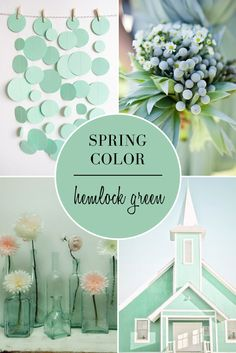 Spring Wedding Colors 2014 | Hemlock Green Wedding Inspiration