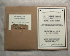 DIY. Homemade wedding invitation