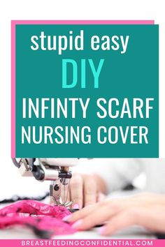 Super Easy DIY Nursing Scarf Cover - It doesn't get any eaasier that this for those times when breastfeeding moms want a nursing. Breastfeeding In Public, Breastfeeding Cover, Breastfeeding Clothes, Breastfeeding Support, Diy Nursing Clothes, Nursing Tops, Nursing Cover Scarf, Breastfeeding Accessories, Postpartum Care