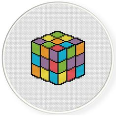 FREE for April 14th 2015 Only - Rubik's Cube Cross Stitch Pattern