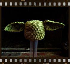 Yoda Crochet Hat by meandmorningglory on Etsy, $20.00