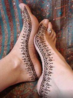 henna foot on mehndi designs