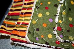 diy chenille burp cloths - my favorite to make