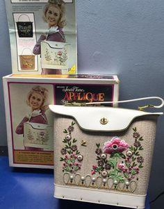 Minty Vintage Jewel Tone Applique Handbag No. by TheVintageHandbag