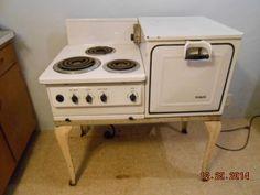 excellent 1930s kitchen | Vintage alcazar enamel gas stove white and grey 1930's ...