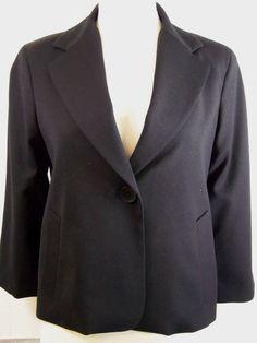 Talbots Tuxedo Jacket Size 4 Black Wool Blend lined Pocket NWT #Talbots #Blazer