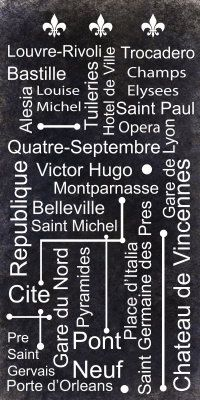 paris Metro poster: I rode the Metro from Gare du Nord to Champs Elyses, tres rapide.