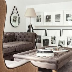 Gray Chesterfield Sofa