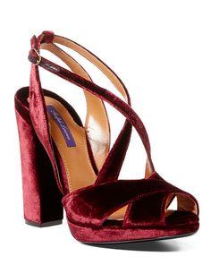 Georgeanna Velvet Sandal - Ralph Lauren Sandals - RalphLauren.com