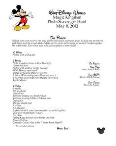 Walt Disney World Magic Kingdom Photo Scavenger Hunt DIY  www.tootsmagoo.com
