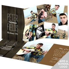Scattered Memories With Logo -- Graduation Announcements