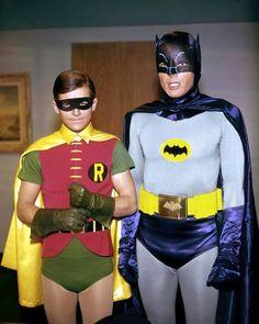 Adam West and Burt Ward. Batman and Robin.