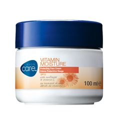 £2.00 Avon Care Vitamin Moisture Face Cream.  Face cream with vitamin E and sunflower seed oil, which helps to protect skin from environmental and sun damage and leaves skin feeling moisturised all day