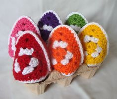 6 Egg in a Cup Warmers / Cosies Granny by AlexandraMackenzieNZ