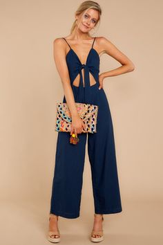 87bfce1681 Chic Navy Jumpsuit - Flirty Blue Playsuit - Playsuit -  52 – Red Dress  Boutique Navy