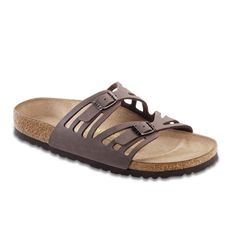 The Granada is Birkenstock's dual-strap sandal with laser cutouts for a dressier look. Both straps have an adjustable buckle for a secure fit. Offered in classic footbed. Specifications: - Upper mater