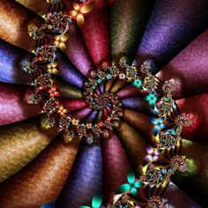 Royal Spiral - Butterfly Spiral Fractal Art