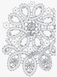 tejidos artesanales en crochet: arte en encaje de brujas Crochet Tablecloth Pattern, Crochet Edging Patterns, Bobbin Lace Patterns, Tablecloth Fabric, Crochet Diagram, Doily Patterns, Filet Crochet, Irish Crochet, Crochet Motif