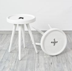 Button Stool / Side Table from HAWKE & THORN // www.hawkeandthorn.com