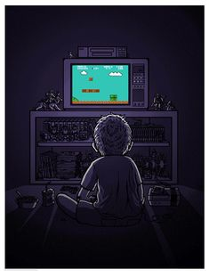 Boy playing Mario
