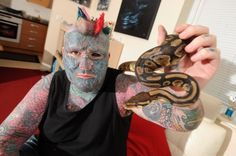 Check Out Most Tattooed Man in Britain – Odd