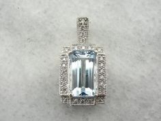 Exceptional Aquamarine Gemstone Accented by by MSJewelers on Etsy, $1415.00