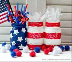 Mason Jar Flag for the 4th of July » Inspiring Pretty