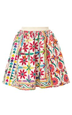 Mochi Jaipur Mini Skirt In Cream by Mochi - Moda Operandi embroidery Folk Fashion, Ethnic Fashion, Indian Fashion, Western Outfits, Indian Outfits, Skirt Fashion, Fashion Dresses, Desi Clothes, Indian Clothes